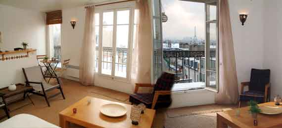 Make your online reservation to Million's Dollars in Paris, studio appartment, 18° arrondissement, close to Monmartre and Sacre Coeur