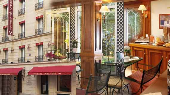 Online reservation for hotel Apollinaire Paris
