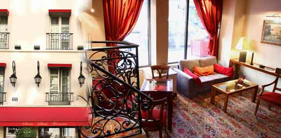 Online reservation for Hotel Sevres Saint Germain